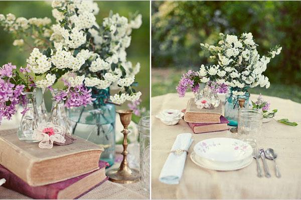 Vintage Hochzeitsdeko Mit Alten Bchern Weddstyle
