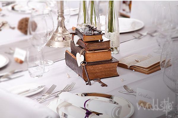 Vintage Hochzeitsdeko Mit Alten Buchern Weddstyle