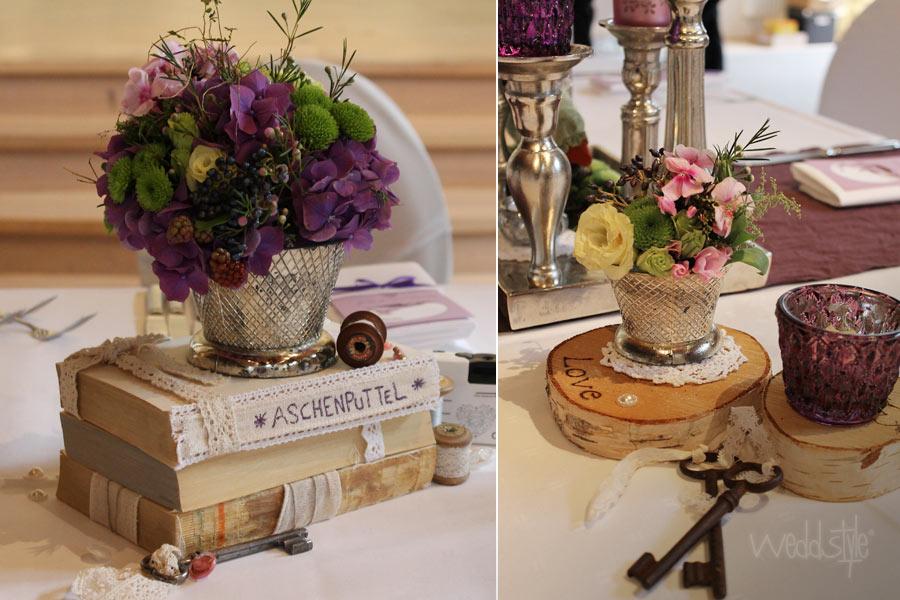 Hochzeitsfloristik tischfloristik weddstyle for Saaldekoration hochzeit
