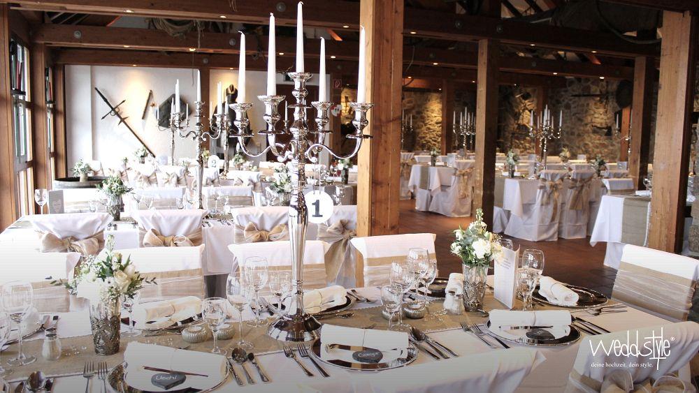 Hochzeitdeko heiraten im schloss auerbach weddstyle Kerzenleuchter hochzeit