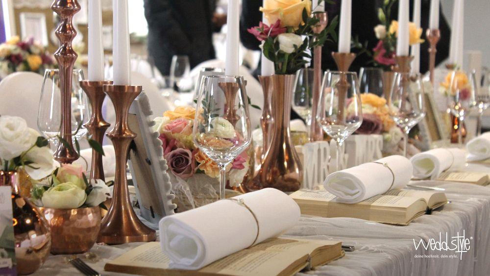 Kupfer Hochzeitdeko Im Trend Weddstyle